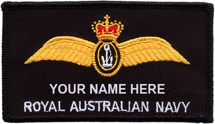 Navy aircrew name patch